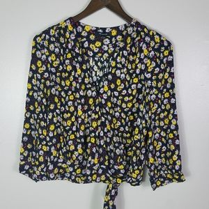 Madewell Wrap Top In French Floral Size Small